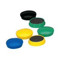Image for 5 Star Round Plastic Covered Magnets 30mm Assorted