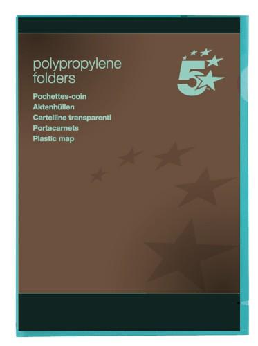5 Star Office Plastic Folder A4 Gn Pk25