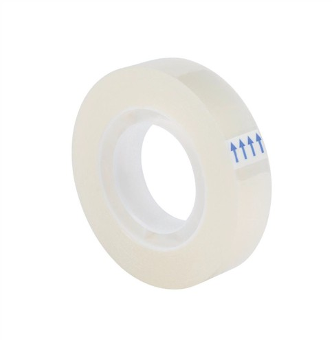 5 Star Clear Tape Roll Small Easy-tear Polypropylene 40 Microns 12mm x 33m [Pack 12]