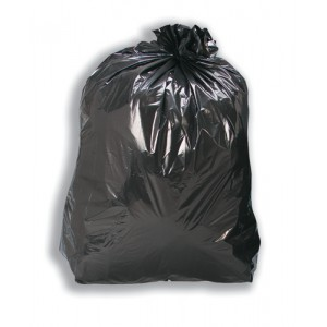 5 Star Bin Bags Medium Duty 100 Gauge 457x737x991mm Black Ref 465144 [Pack 200]