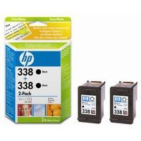 HP No.338 Inkjet Cartridge 11ml Black Twin Pack Code CB331EE