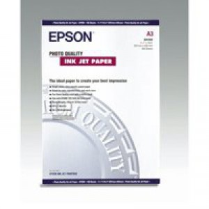 Epson Photo Quality Inkjet Paper Matt 104gsm Max.1440dpi A3 Ref S041068 [100 Sheets]