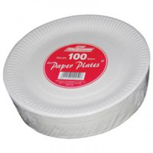 Paper Plates Disposable 230mm [Pack 100]