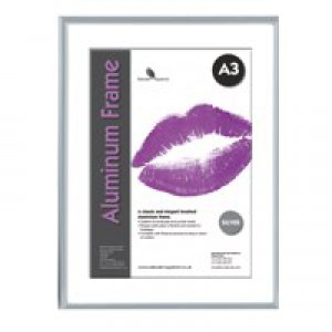 Photo Frame Clip In Aluminium with Clear Styrene Front A3