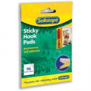 Sellotape Sticky Hook Pads 20x20mm Yellow Pack 96 Pads Code 504050