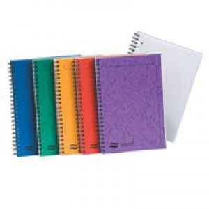 Europa Notemaker Book Sidebound Ruled 80gsm 120 Pages A4 Assorted A Pack 10