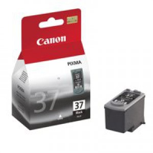 Canon PG-37 Inkjet Cartridge Page Life 220pp Black Ref 2145B001