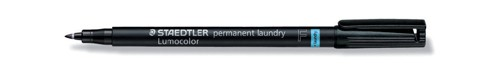 Staedtler Lumocolor Permanent Laundry Marker Line Width 0.6mm Black Ref 319LMF9 [Pack 10]