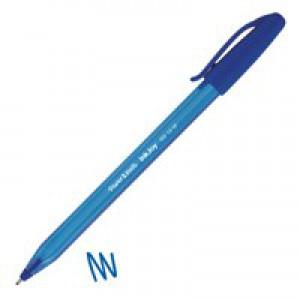 Papermate Inkjoy 100 Capped Ballpoint Pen Medium Blue Code S0957130