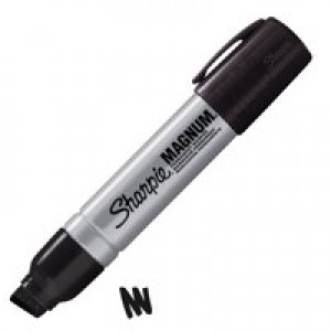 Sharpie Metal Permanent Marker Large Chisel Tip 14.8mm Line Black Ref S0949850 [Pack 12]