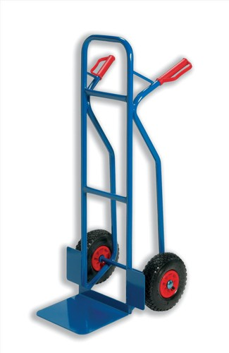 RelX Warehouse Hand Trolley Sturdy Capacity 180kg Foot Size W476xL510mm Blue Ref HT2502 [796568]