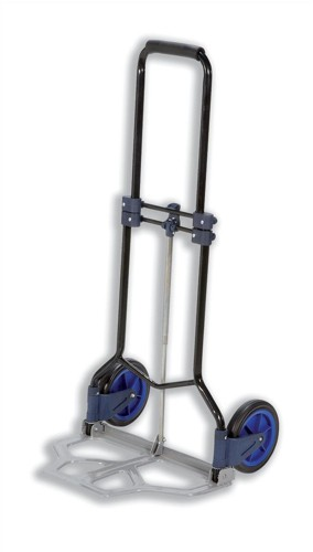 RelX Hand Trolley Folding Capacity 70kg Foot Size W480xL470mm Black and Blue Ref HT1589B [320198]