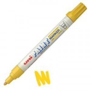 uni Paint Marker Bullet Tip Medium Point Px20 Line Width 2.2-2.8mm Yellow Ref 124362000 [Pack 12]