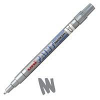 uni Paint Marker Bullet Tip Fine Point Px21 Line Width 0.8-1.2mm Silver Ref 124644000 [Pack 12]