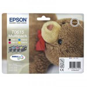 Epson Teddybear DURABrite Ultra Ink Multipack 4-colours T0615