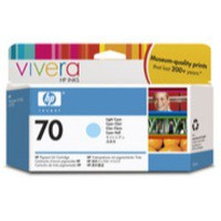 Hewlett Packard No70 Inkjet Cartridge 130ml Light Cyan C9390A