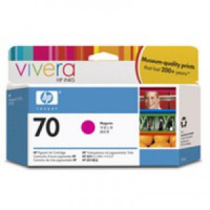 Hewlett Packard No70 Inkjet Cartridge 130ml Magenta C9453A