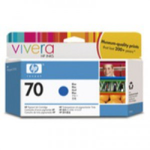 Hewlett Packard No70 Inkjet Cartridge 130ml Blue C9458A