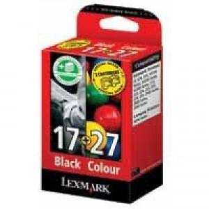 Lexmark No.17 + No.27 Inkjet Cartridge Combo Pack Black/Colour Code 80D2925