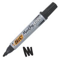 Bic Marking 2000 Permanent Marker Bullet Tip Line Width 1.7mm Black Ref 820915 [Pack 12]
