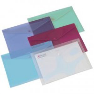 Rexel Carry Folder A4 Translucent Assorted Pack of 6 16129AS