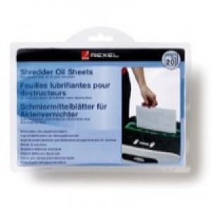 Rexel Shredder Oil Sheets 20 Pack Code 2101949
