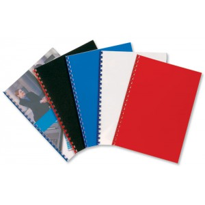 GBC PolyCovers Opaque Binding Covers Polypropylene 300 micron A4 Black Ref IB386831 [Pack 100]