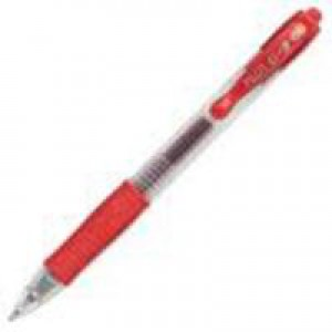 Pilot G207 Gel Rollerball Pen Rubber Grip Retractable 0.7mm Tip 0.4mm Line Red Code BLG20702