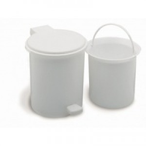 Addis Vanity Pedal Bin With Liner White Code 9872WHT