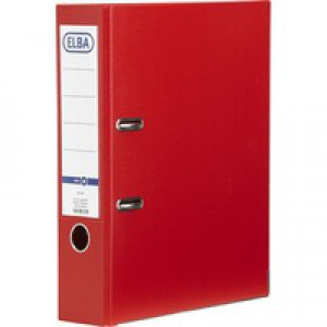 Elba Lever Arch File A4 Red