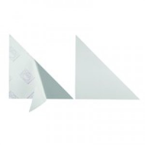 Durable Cornerfix Corner Filing Pockets Soft PVC Self-adhesive 140mm Ref 8318 [Pack 100]