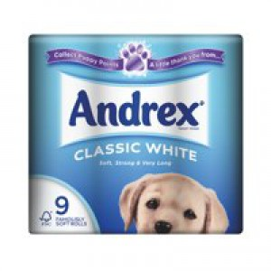 Andrex Toilet Roll Classic White Pack 9 Code VKC4970125