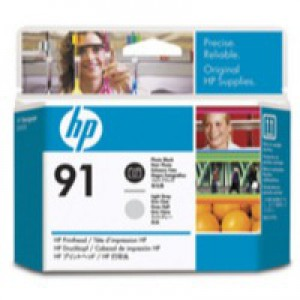Hewlett Packard No91 Print Head Photo Black/Light Grey C9463A