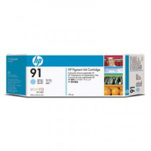 Hewlett Packard No91 Inkjet Cartridge Light Cyan C9470A