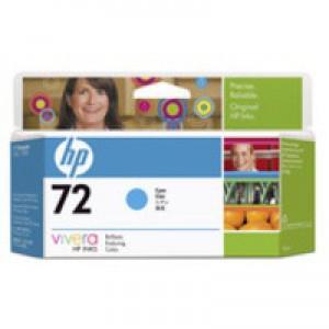 Hewlett Packard [HP] No. 72 Inkjet Cartridge Vivera Ink 130ml Cyan Ref C9371A