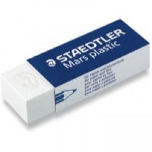 Staedtler Mars Plastic Eraser Premium Quality Self-cleaning 55x23x12mm Code 52650BK2
