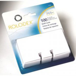 Rolodex Refill Cards Plain 57x102mm White Ref 67570 [Pack 100]