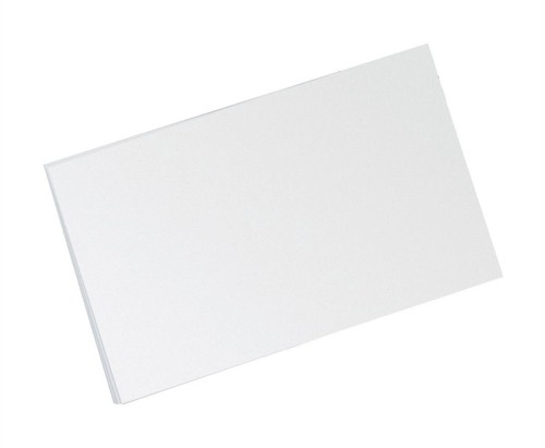 Record Card Smooth Blank 203x127mm White [Pack 100]