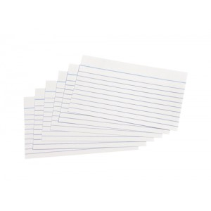 5 Star Record Cards 127x76mm White Pk100