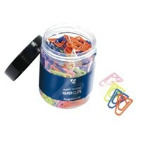 Paperclips Plastic Non Magnetising 35mm Assorted Colours [Pack 200]
