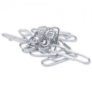 5 Star Paperclips Metal Large 33mm Lipped [Pack 1000]