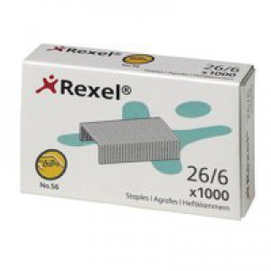 Rexel 56 Staples 6mm 06131 Bxd 1000