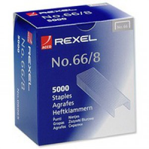 Rexel 66 Staples 8mm 06065 Bxd 5000