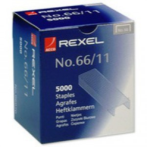 Rexel 66 Staples 11mm 06070 Bxd 5000