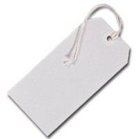 White Strung Tag 96x48mm [Pack 75]