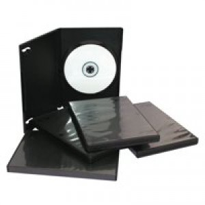DVD Case Standard Polypropylene for 1 Disk Black [Pack 5]