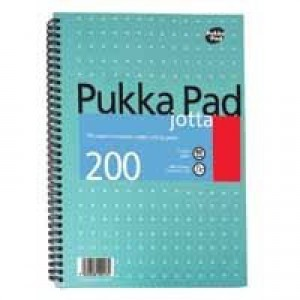 Pukka Pad Notebook Wirebound Jotta 80gsm Ruled 200 Pages A5 Code JM021