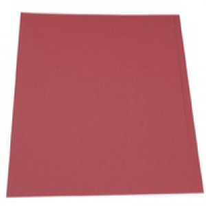 Guildhall Square Cut Folders Manilla 315gsm Foolscap Red Ref FS315-REDZ [Pack 100]