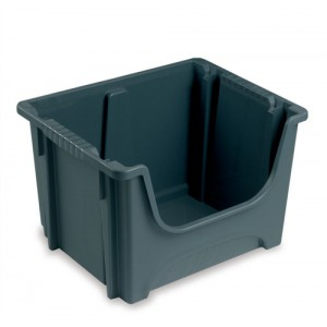 Storage 50L Euro Stack Bin Grey