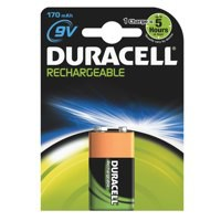 Image for Duracell Battery Rechargeable Accu NiMH 170mAh 9V Ref 81364739